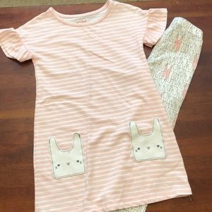 Cat and Jack bunny dress with leggings